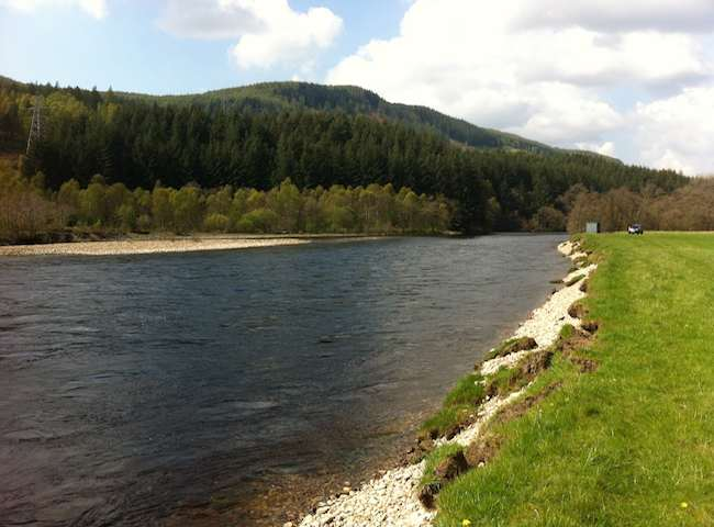Beautiful Pool & Glides On The Salmon Rivers Of Scotland